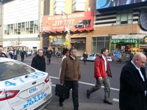 Jaywalking on 8th Ave in Manhattan