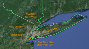 The 3 1/2 New Yorks: Upstate New York, New York City, Long Island, and Staten Island